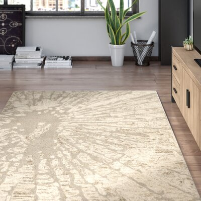 Adan Taupe Area Rug Rug Size: Rectangle 5 x 8
