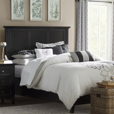 Allenville Panel Bed Size: California King, Color: Black
