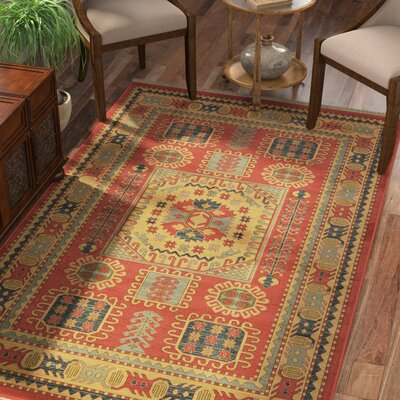 Jaida Red Tibetan Indoor Area Rug Rug Size: Rectangle 7 x 10