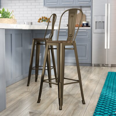 Fortuna 29.5 Bar Stool Finish: Bronze