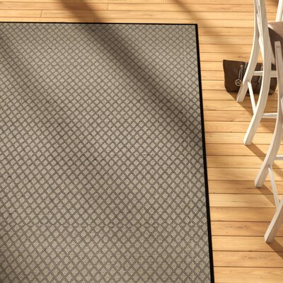 Doyle Ivory/Black Indoor/Outdoor Area Rug Rug Size: Rectangle 5 x 8