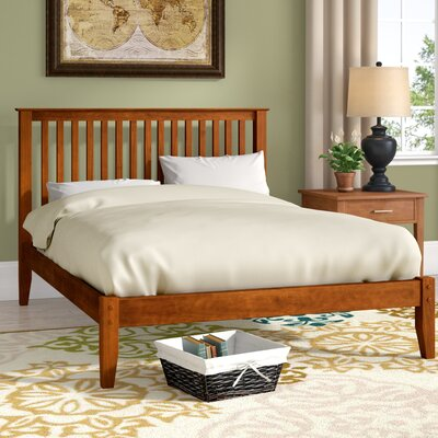 West Highland Platform Bed Size: King, Color: Cherry
