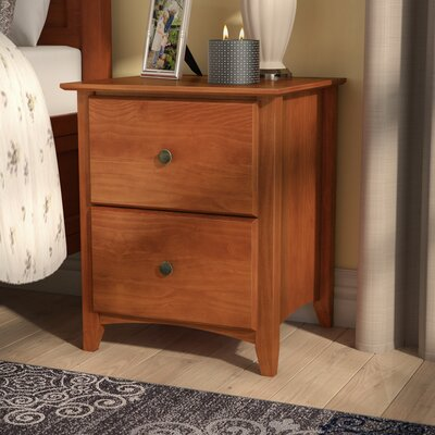 Avalon 2 Drawer Nightstand Color: Cherry