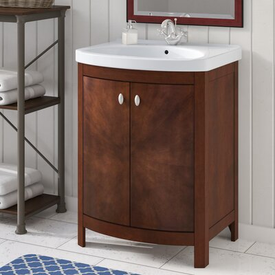 Taryn 24 Single Bathroom Vanity Set Base Finish: Walnut