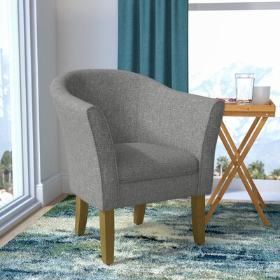 Church Barrel Chair Upholstery: Charcoal