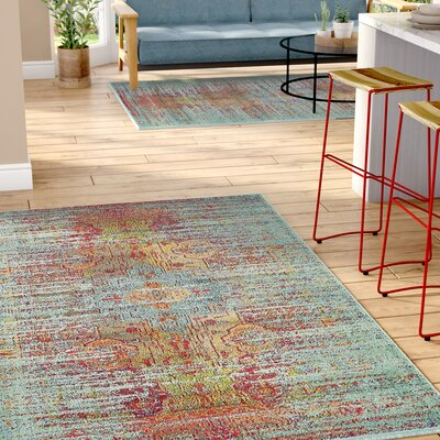 Newton Tibetan Blue Area Rug Rug Size: Rectangle 22 x 3