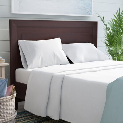 Crescent Beach 400 Thread Count 100% Cotton Sheet Set Size: Queen, Color: White