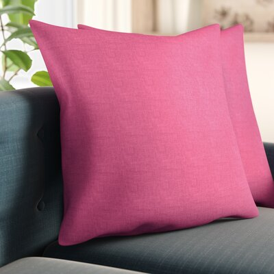 Newsome Linen Throw Pillow Size: 20 H x 20 W x 6 D, Color: Orchid Pink