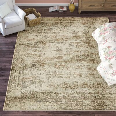 Forcalquier Abstract Cream Area Rug Rug Size: Rectangle 9 x 12