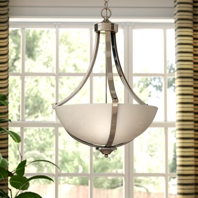 Crofoot Traditional 3-Light Bowl Pendant Finish: Satin Nickel