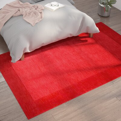 Bradley Hand Woven Red Area Rug Rug Size: Rectangle 76 x 96