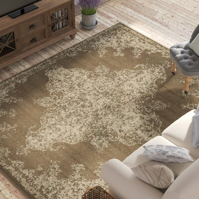 Forcalquier Brown Area Rug Rug Size: Rectangle 8 x 10
