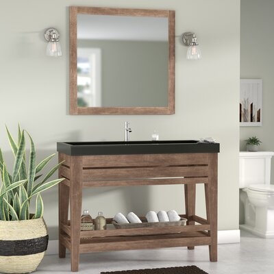 Madalyn 48 Single Bathroom Vanity with Mirror Base Finish: Ash