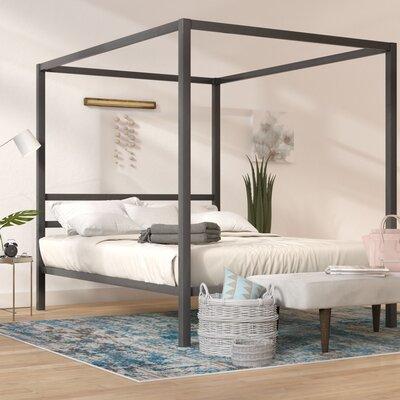 Kosinski Queen Canopy Bed Color: Dark Gray