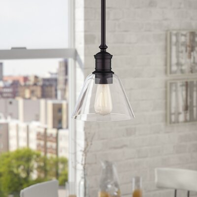 Whitaker 1-Light Mini Pendant Finish: Oil Rubbed Bronze