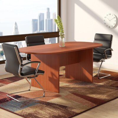 Cheryl Oval Conference Table Color: Cherry, Size: 6 L