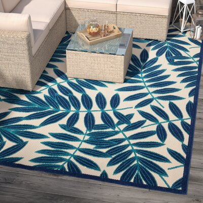Farley Navy/Beige Indoor/Outdoor Area Rug Rug Size: Rectangle 710 x 106