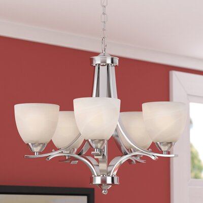 Crofoot 5-Light Shaded Chandelier Finish: Chrome Plated