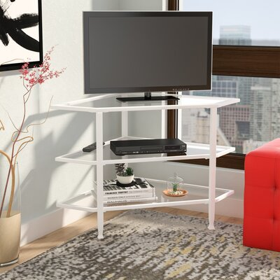 Charney Corner 35 TV Stand Color: Crisp White