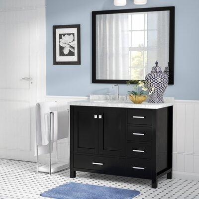 Marine 43 Wood Single Bathroom Vanity Set Base Finish: Espresso