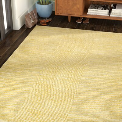 Caneadea Hand-Tufted Gold Area Rug Rug Size: Rectangle 5 x 79