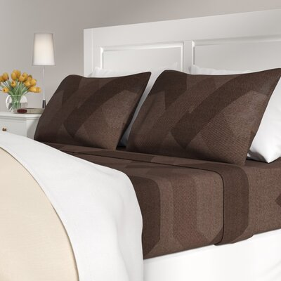 Ragland 400 Thread Count 100% Cotton Sheet Set Color: Chocolate, Size: Queen
