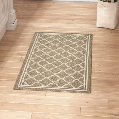 Short Brown/Bone Outdoor Area Rug Rug Size: Rectangle 2 x 37