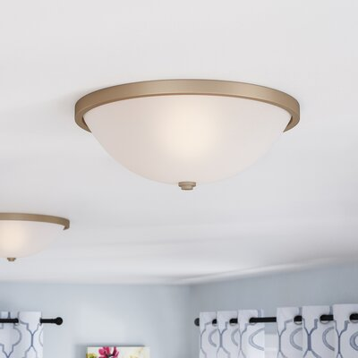 Rayfield 2-Light LED Flush Mount Finish: Aged Brass