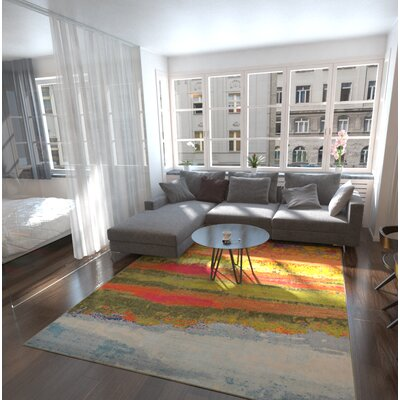 Laurentides Green/Red Area Rug Rug Size: Rectangle 8 x 11