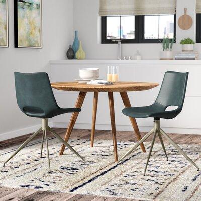 Teddy Swivel Side Chair Upholstery: Blue