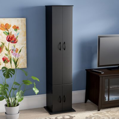 CD / DVD Wood Multimedia Cabinet Color: Black