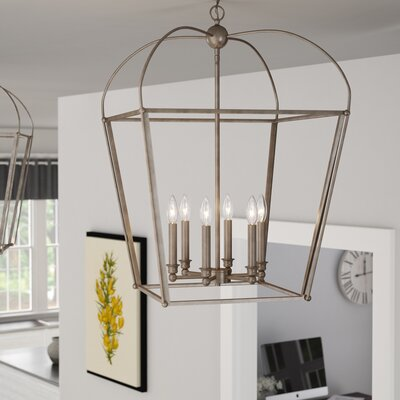 Gladding 6-Light Foyer Pendant Finish: Antique Silver Leaf
