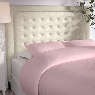 Woodside Upholstered Panel Headboard Size: Full, Upholstery: Beige