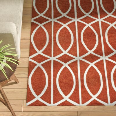 Blackledge Pumpkin Area Rug Rug Size: Rectangle 36 x 56
