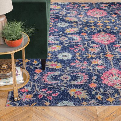Blackwell Dark Blue Area Rug Rug Size: 77 x 97