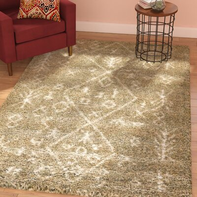 France Machine woven Taupe Area Rug Rug Size: Runner 27 x 6