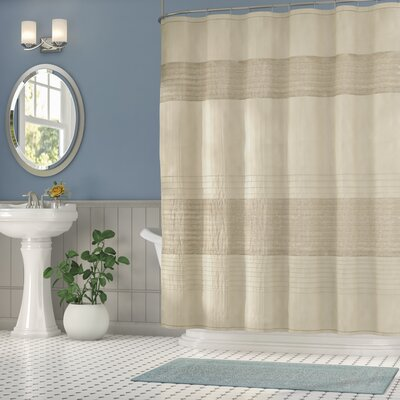 Berardi Metallic Shower Curtain Color: Taupe