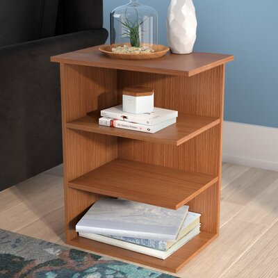 Fay Modern 3 Shelf End Table Color: Light Cherry
