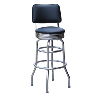 Retro Home 30 Swivel Bar Stool Upholstery: Blue