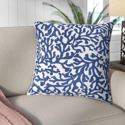 Chantel 100% Cotton Pillow Cover Size: 18 H x 18 W, Color: Dark Blue