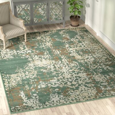 Forcalquier Green Indoor Area Rug Rug Size: Rectangle 9 x 12