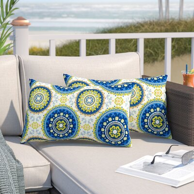 Pearson Outdoor Lumbar Pillow Color: Summer
