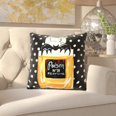 Yusuf Perfume Poison Throw Pillow Size: 16 x 16