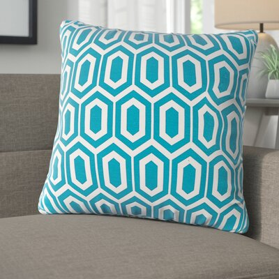 Destiny Throw Pillow Color: Teal