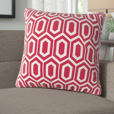 Destiny Throw Pillow Color: Red