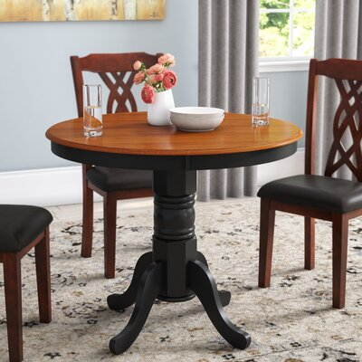 Cedarville Dining Table Color: Black/Cherry