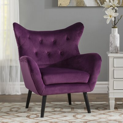 Bouck Wingback Chair Upholstery Color: Purple