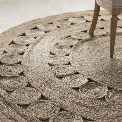 Summerland Hand-Woven Taupe Area Rug Rug Size: Round 5