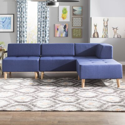 Alley Reversible Sectional Collection Upholstery: Twilight Blue