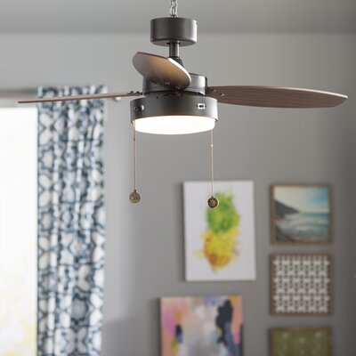 42 Corsa 3 Blade Ceiling Fan Finish: Oil Rubbed Bronze with Walnut/Family Oak Blades